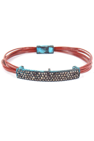(3PCS) Multi Cord Magnetic Bracelet