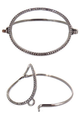 (6PCS) Stone Push Bangle Bracelet
