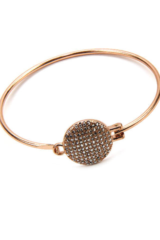 Pave Push Bangle Bracelets