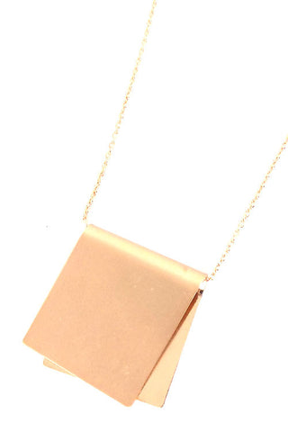 Folded Metal Necklace