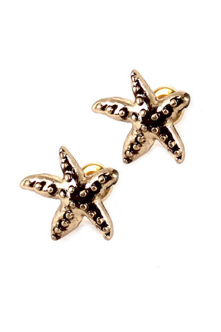 (6PCS) Metal Starfish Post Earrings