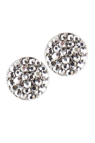 Pave Stone Post Earrings