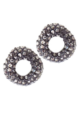 (3PCS) Stone Post Earrings