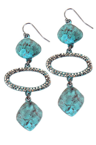 Stones Fishhook Earrings