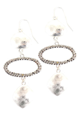 (3PCS) Stones Fishhook Earrings