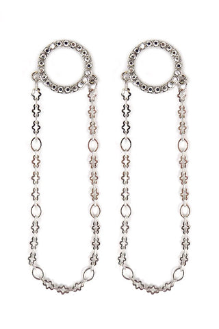 (2PCS) Chain Drop Post Earrings