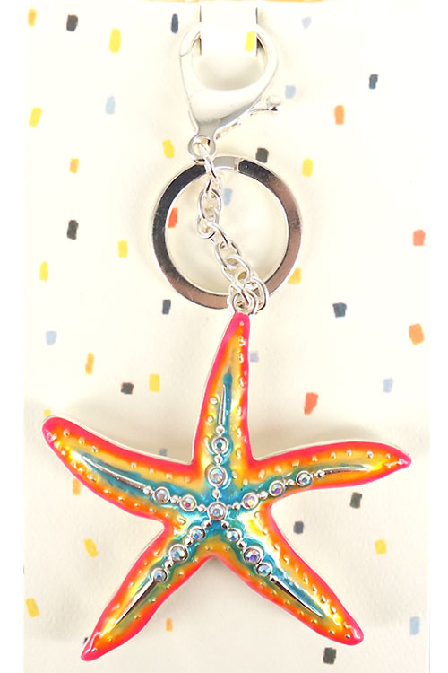 Starfish Metal Key Chain