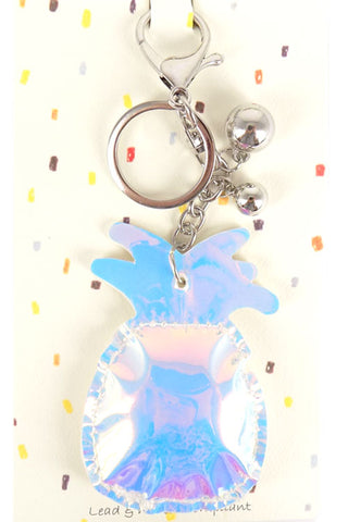 (3PCS) Holographic Pineapple Key Chain