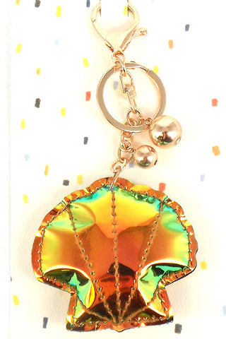 (3PCS) Holographic Clam Key Chain