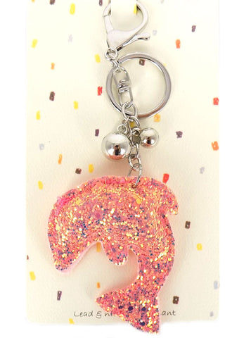 (3PCS) Dolphin Glitter Key Chain