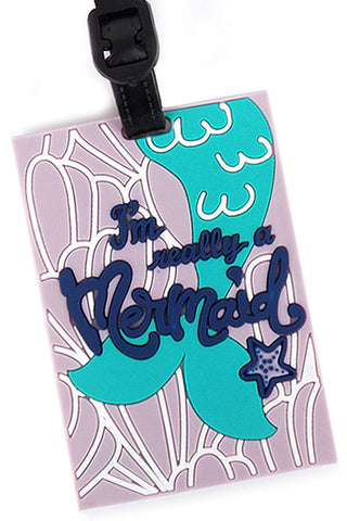(3PCS) Mermaid Luggage Tag
