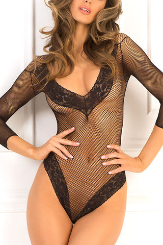 (3PCS) Fishnet Bodysuit