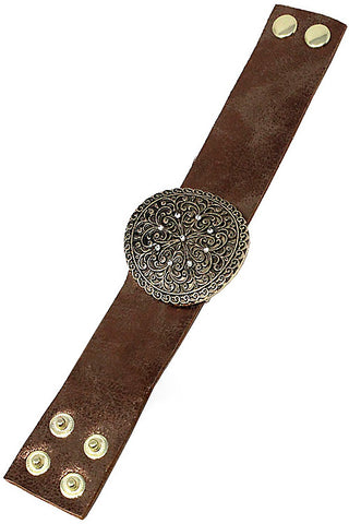 Leather Metal Adjustable Bracelet