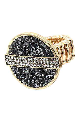 (3PCS) Druzzy Stone Stretch Ring