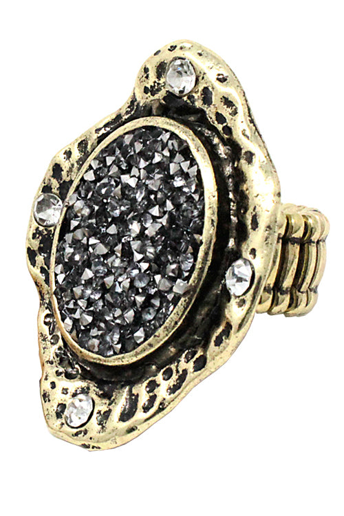 Druzzy Stone Stretch Ring