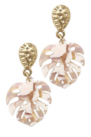 (6PCS) Fashion Leaf Post Earring