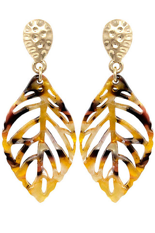 (3PCS) Fashion Leaf Post Earring