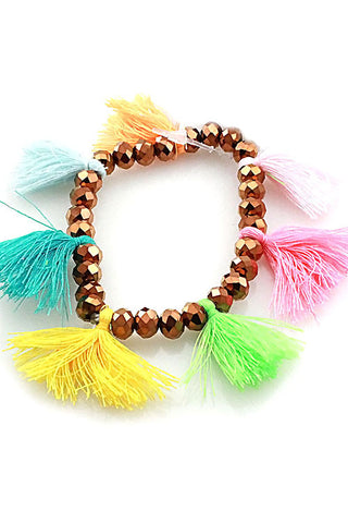 (3PCS) Tassel Stretchable Bracelet