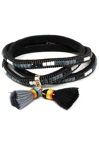 Tassel Pendant Wrap Up Bracelet