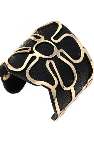 Fashion Faux Leather Cuff Bracelet