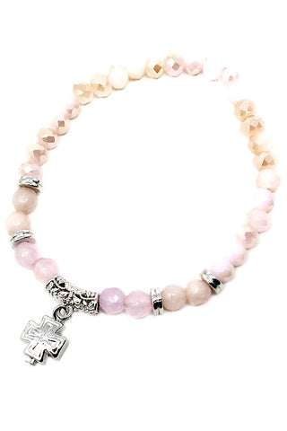 Cross Stone Stretchable Bracelet