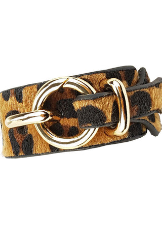 Faux Leather Adjustable Bracelet