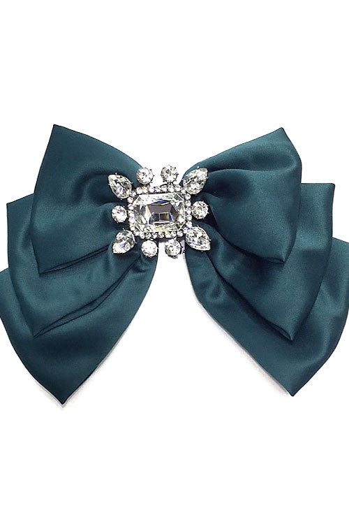 (3pcs) Big Bow Tie W Stone Pin