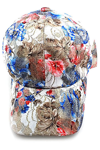 (3PCS) Flower Imprinted Fashion Cap