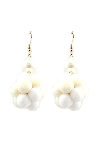 (3PCS) Fur Ball Hook Earrings