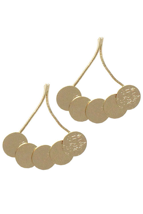 Circle Drop Post Earrings