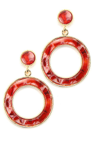(3PCS)Circular Drop Post Earrings