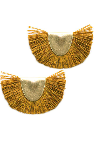 Tassel Metal Post Earrings