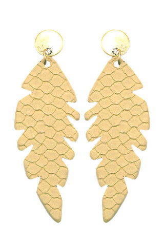 Fashion Leaf Drop Post Earrings
