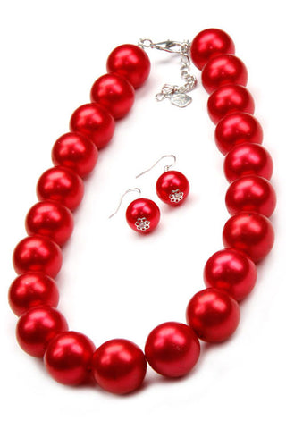 (3PCS) Pearl Necklace Set