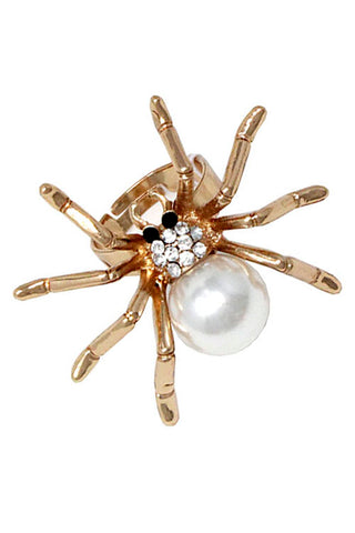 (3PCS) Pearl Spider Ring