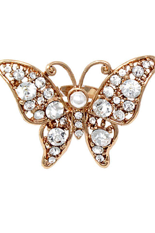 (3PCS) Stone Butterfly Ring