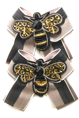 (2PCS)Bee Bow Strap Shoe Accessory
