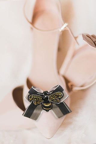 (3PK) Fashion Bee Bow Strap Shoe Accessory