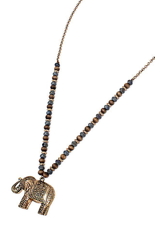 Elephant Pendant Necklace Set