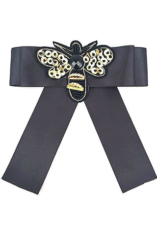 Bead Bee Bow Tie Pin