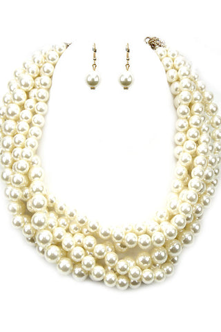 Multi Pearl Necklace Set