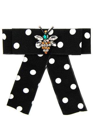 Polka Dot Bow Tie Pin