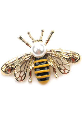 Metal Bee Brooch Pin