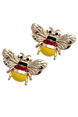Fashion Bee Post Earrings