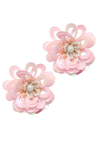(3PCS) Fashion Flower Post Earrings