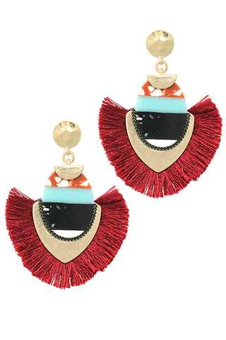 Fashion Tassel Post Earrings