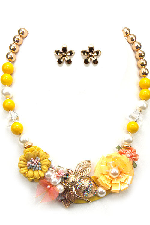 Fashion Flower Necklace Set