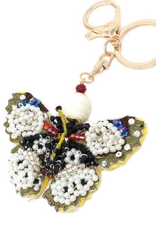 (10PCS) Embroidered Butterfly Keychain