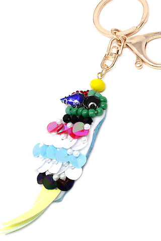 Sequin Bird Keychain