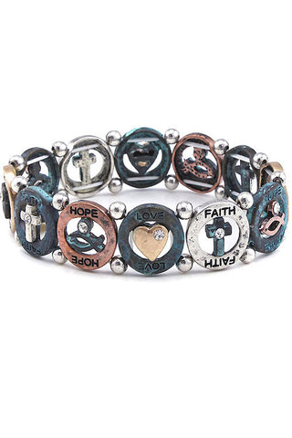 Inspiration Metal Stretch Bracelet